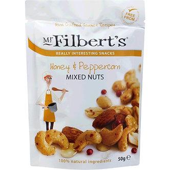 Honey & Peppercorn Mixed Nuts Mr. Filberts 50g