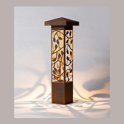 Winding Vine Bollard Light