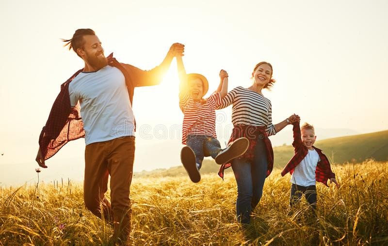 happy-family-mother-father-children-son-