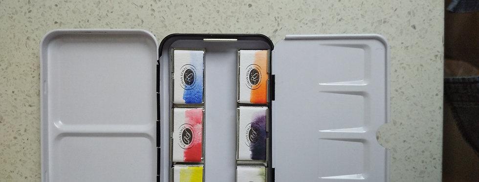 Six Full Pan Fine Watercolor Set