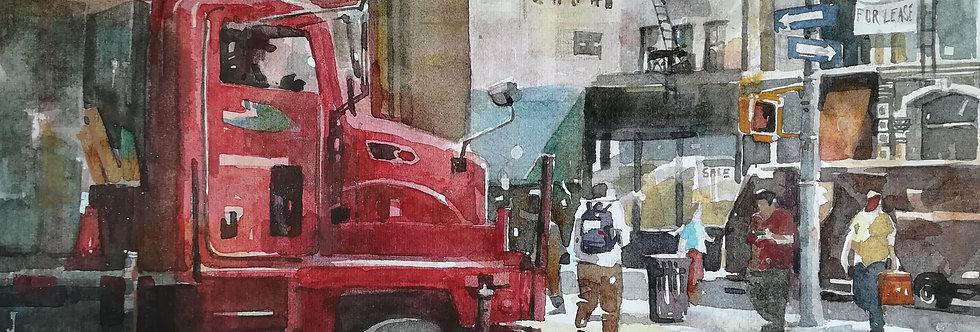 Red Truck in Soho