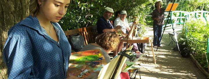 Giverny, France Watercolor in One Stroke Workshop