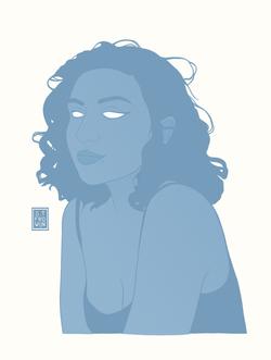 Girl in Blue - Sebastiaan Frowijn
