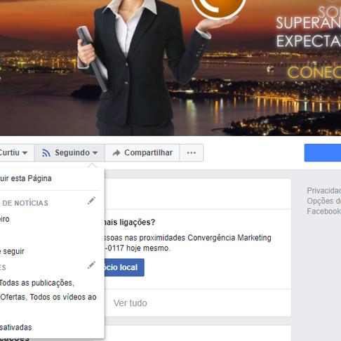 Alertas de conteúdo no Facebook!