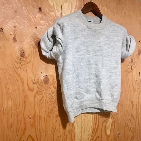 Madewell  💕  Wallace - Short-Sleeve Sweatshirt - Small (S) - Gray