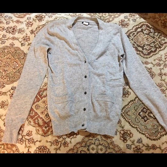 J. Crew Light Gray Wool Cardigan XS