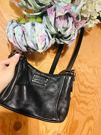 Kate Spade Small Leather Crossbody - Black