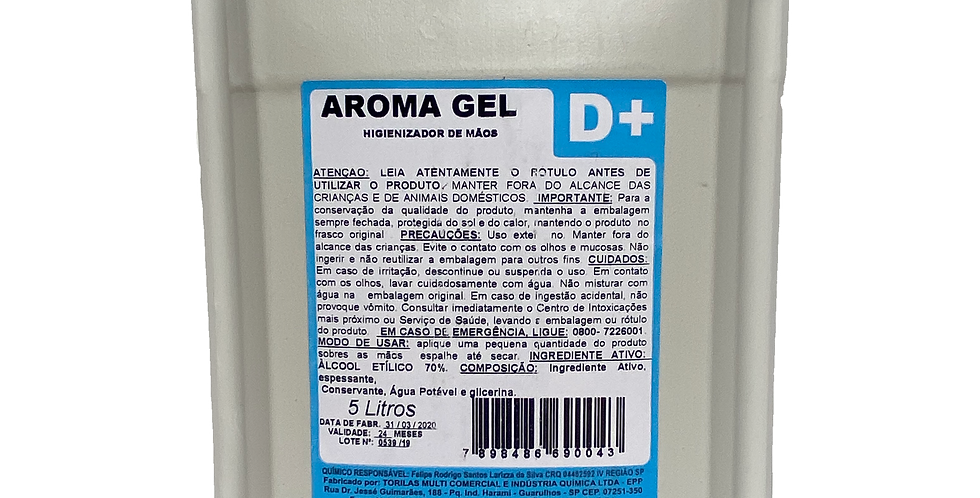 ÁLCOOL GEL 70% - 5L - Galão