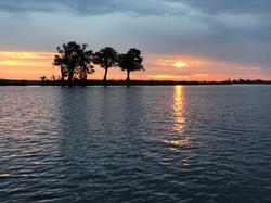 Sunsets in Botswana are legendary