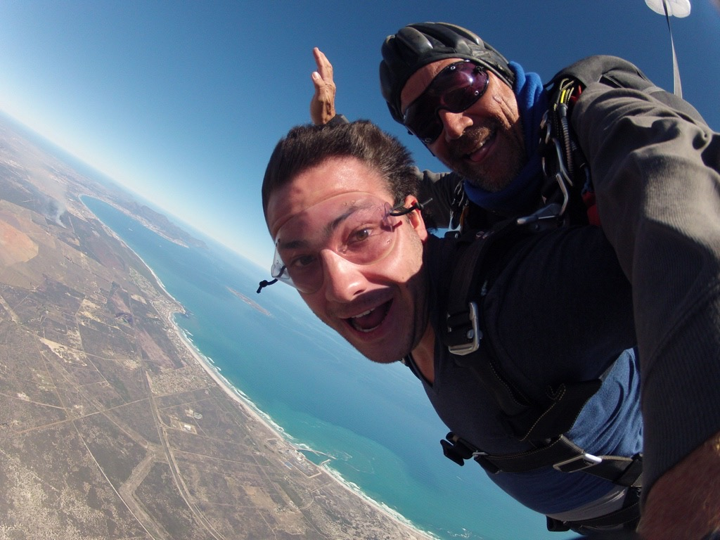 tandem skydiving in cape town