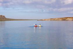 kayaking on the langebaan lagoon