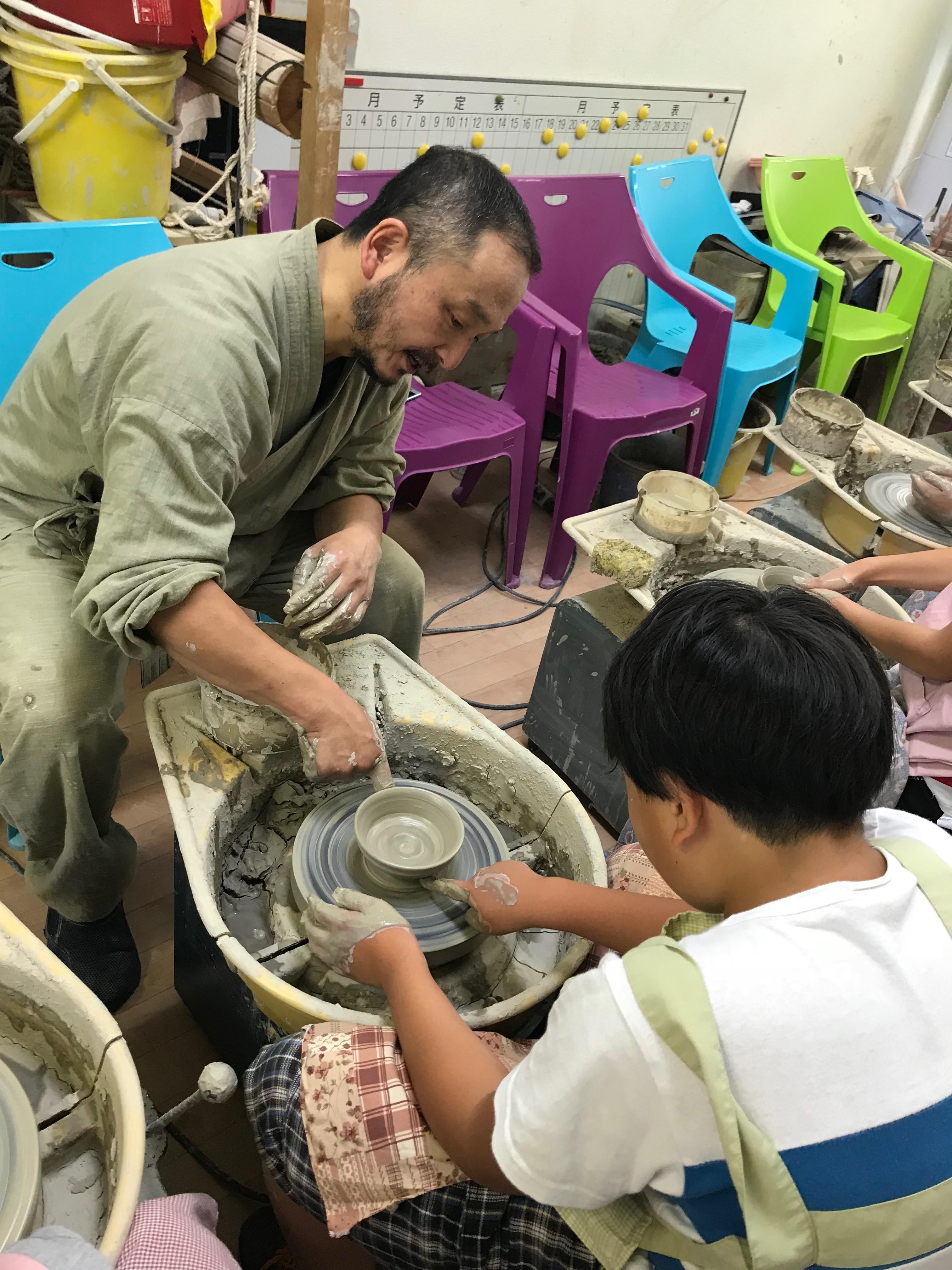1日目陶芸教室③