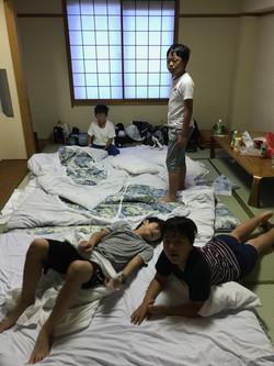1日目旅館就寝①