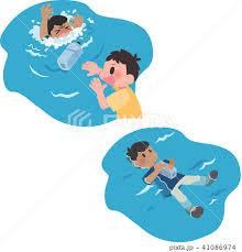 溺れる・浮く