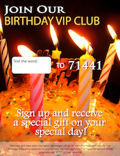 New SMS Birthday Feature