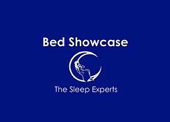 bedshowcase logo with crescent blue cent