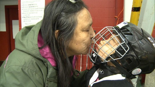 hockey-kiss sioux lookout