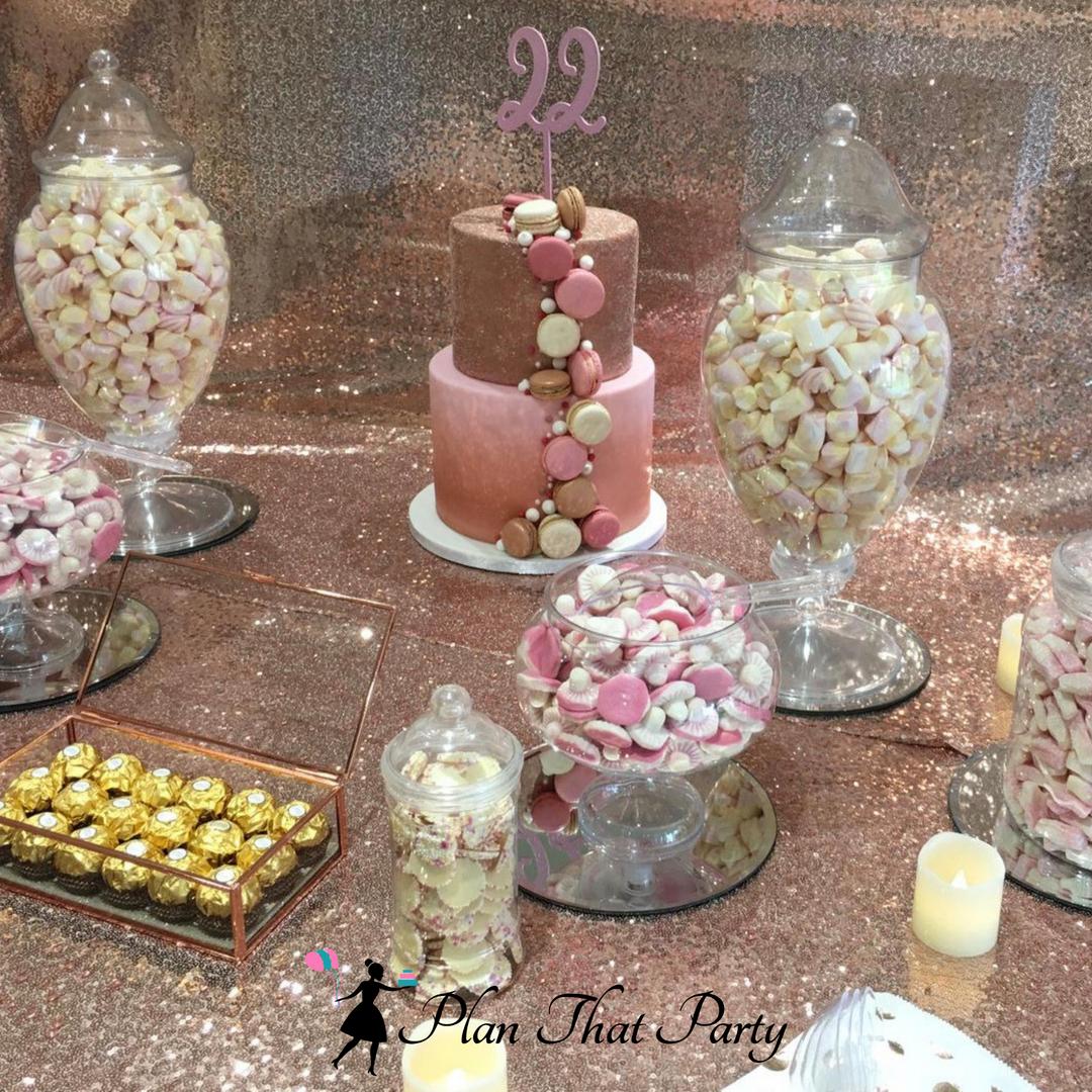 Demi's Rose Gold Candy Buffet