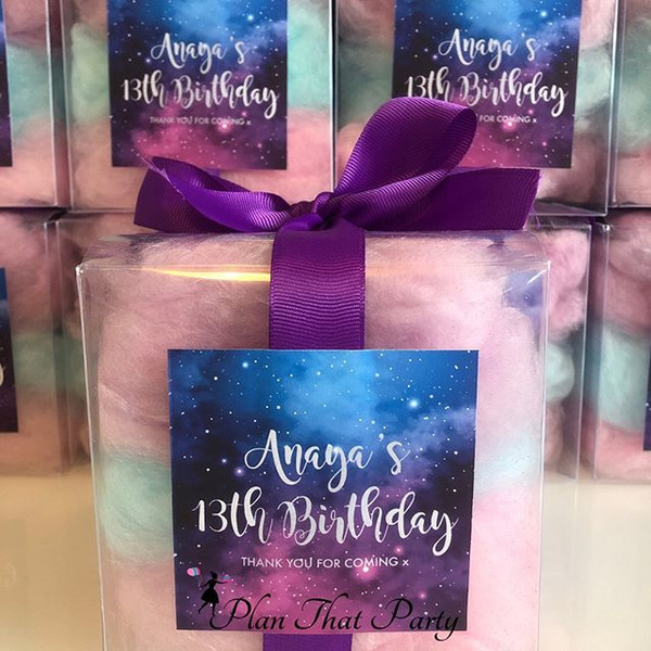 Galaxy Candy Floss Boxes