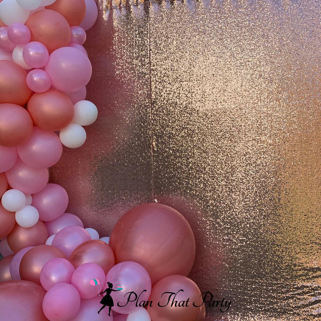 Rose Gold and Pink Balloon Garland