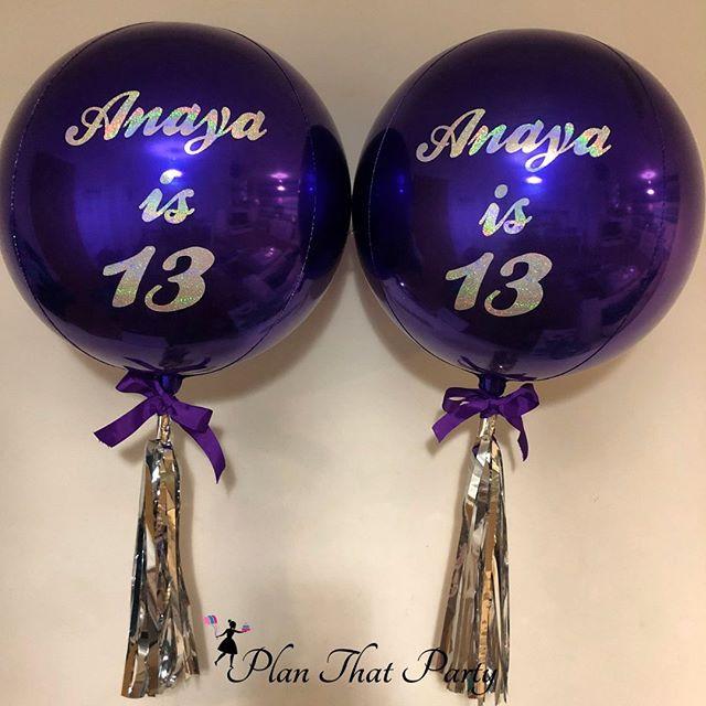 Bespoke 13th Birthday Bubble Balloons