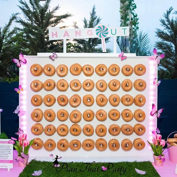 Secret Garden Doughnut Wall