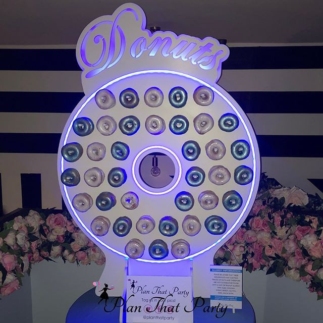 Beautiful in Blue Ring Doughnut Wall