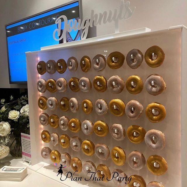 Glitzy in Gold Doughnut Wall