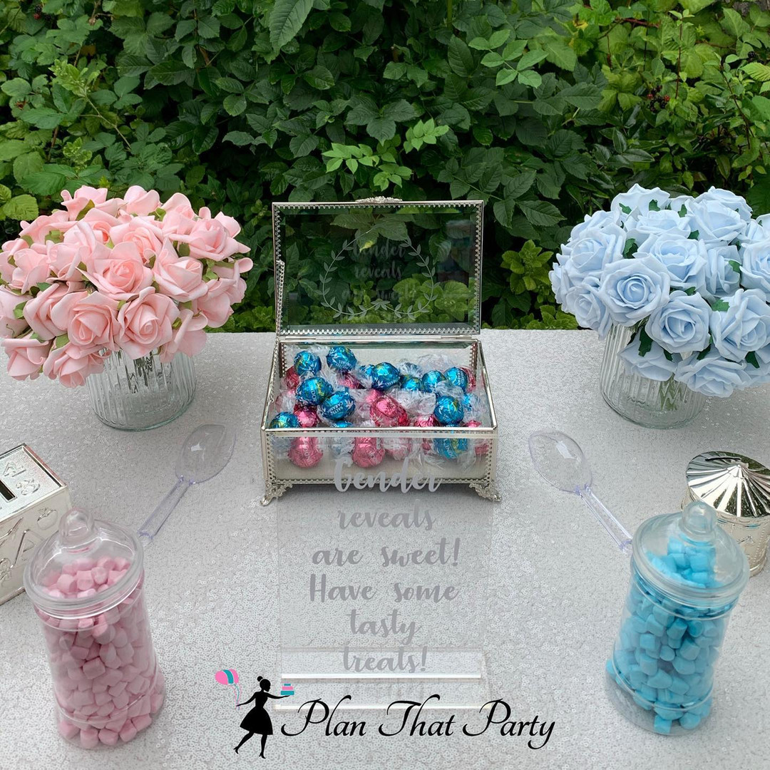 Gender Reveal Candy Buffet