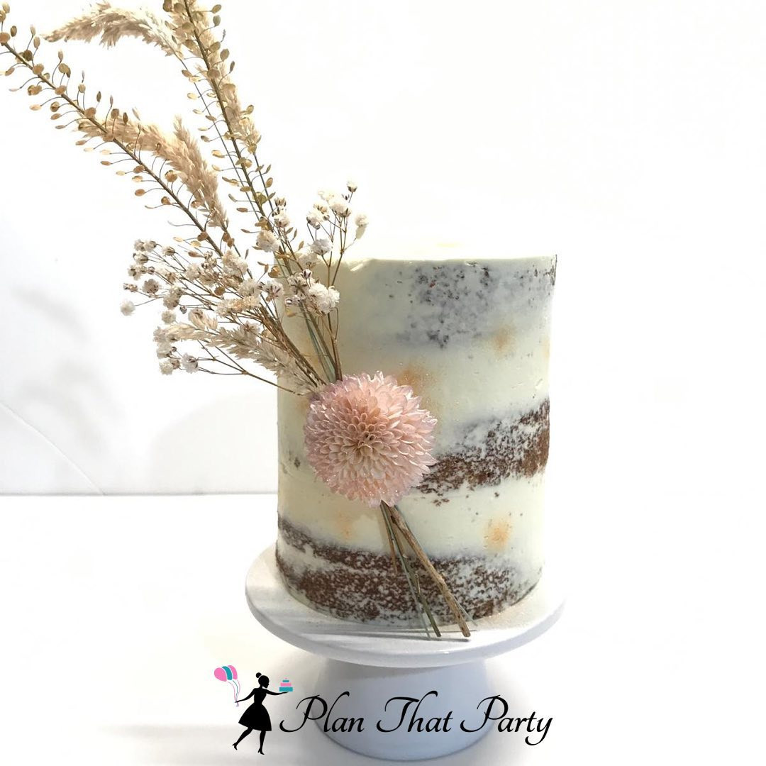 Dried Flowers Semi Naked Cake