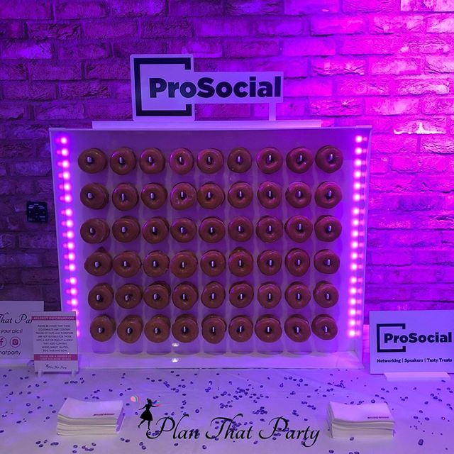 ProSocial Branded Doughnut Wall