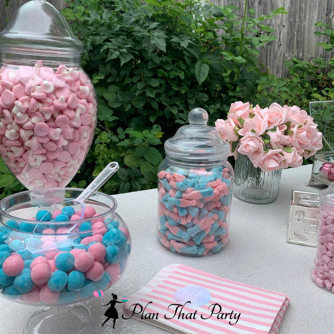 Baby Girl Gender Reveal Candy Buffet