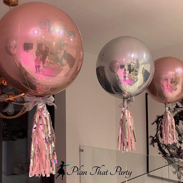 Bespoke 30th Birthday Bubble Balloons