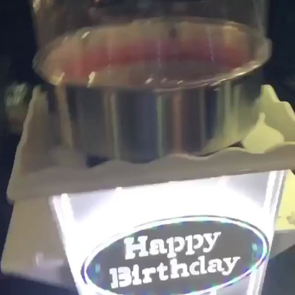 Happy Birthday Candy Floss Stand