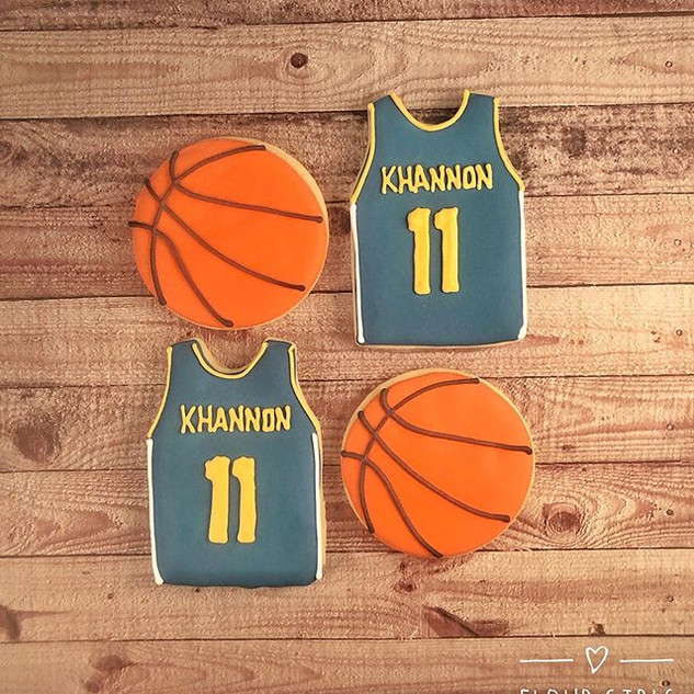 Basketball & Jersey Cookies to celebrate
