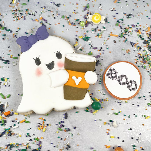 Girly Ghost w/ coffee