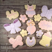 Pastel and cream butterfly baby shower c