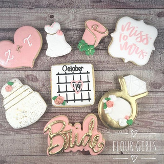 Bridal Shower cookies. Blush is the colo