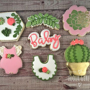 Rose, Cactus & Succulent baby shower coo