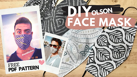 DIY OLSON PROTECTIVE FABRIC FACE MASK WI