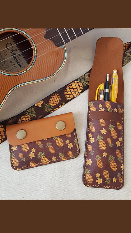 Pineapple Wallet and Pen Case
