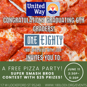 Graduating 6th Graders Pizza Party