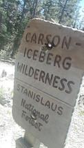 Carson Iceberg Wilderness Sign