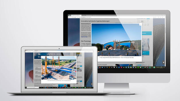 Industriefotografie: Veröffentlichung auf der Website der Bayerische Ingenieurekammer