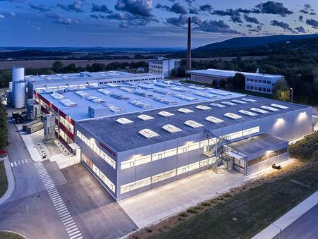 Drohnen-Luftbild: Produktionsstandort Hammerbacher SK, Nitra Slovakei
