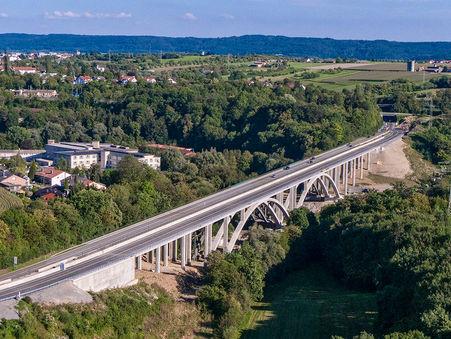 Drohnen-Luftbild: Murrtalviadukt, Baden-Württemberg
