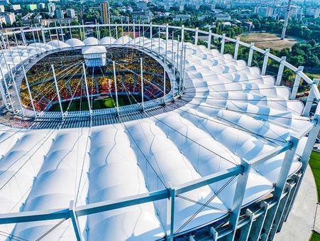 Drohnen-Luftbild von Lia Manoliu - Stadion in București Rumänien