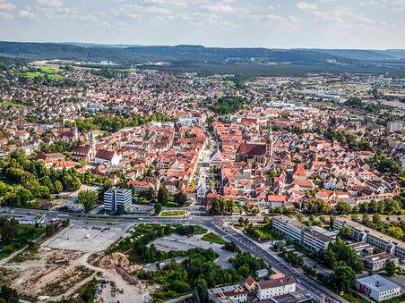 Drohnen-Luftbild: Ehemals Schlachthof/ Aldi/ Rödl/ zukünftiger Neuer Markt Neumarkt i.d. OPf.