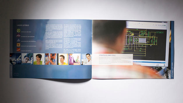 Industriefotografie: Veröffentlichung in Broschüre der Schabmüller GmbH