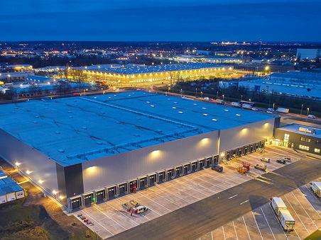 Drohnen-Luftbild von Firmenzentrale